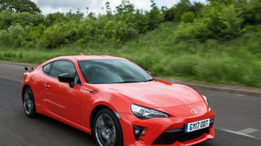 Toyota GT86 Orange Edition front three-quarters high