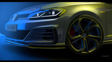 Golf GTi TCR front sketchfrotn