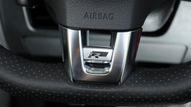 Volkswagen Polo R-line steering wheel badge