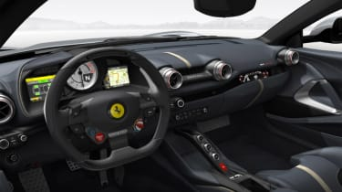 Ferrari 812 Superfast configured silver interior