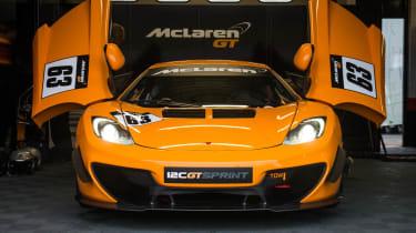 McLaren 12C GT Sprint doors open