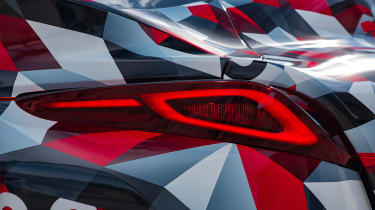 Toyota Supra proto drive - rear lights