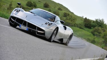 New Pagani Huayra front slide drift