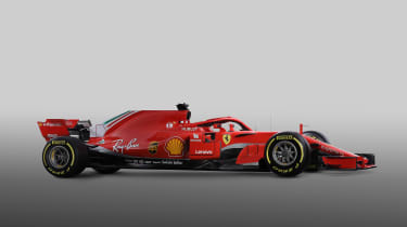 Ferrari F! 2018 car - side
