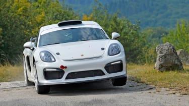 Porsche Cayman GT4 Clubsport rally - cornering