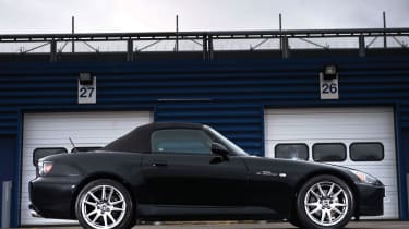 Honda S2000 black side profile