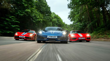 458 Speciale vs F430 Scuderia vs 360 Challenge Stradale