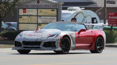 Chevrolet Corvette ZR1 spied - front quarter