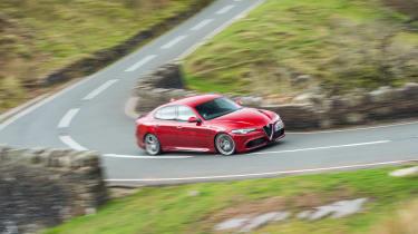 eCoty Alfa Romeo Giulia QV - front driving