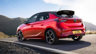 New Vauxhall Corsa rear three quarters 2