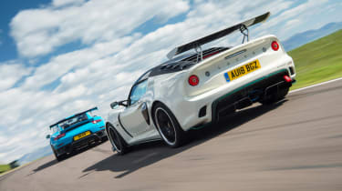 Road-legal supercars – Porsche 911 GT2 RS and Lotus Exige Cup 430