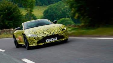New 2018 Aston Martin Vantage spy shots front