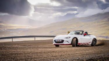 Mazda MX-5 in Iceland - slide