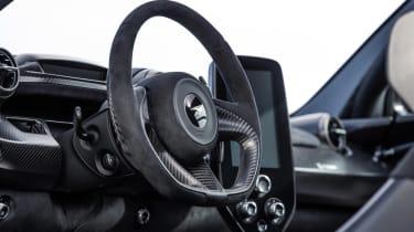 McLaren Senna track steering wheel