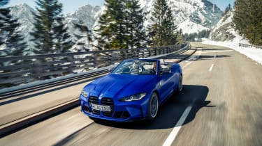 BMW M4 Competition Convertible – front tracking