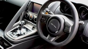 2013 Jaguar F-type V6 flat bottom steering wheel dashboard