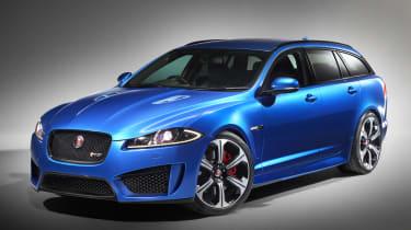 Jaguar XFR-S Sportbrake front studio shot