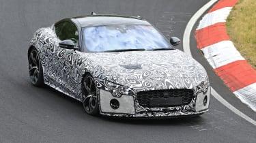 Jaguar F-type facelift spied front