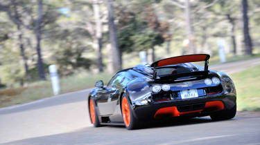 Bugatti Veyron Vitesse - driving