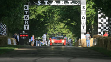 Ferrari F12 TRS Goodwood start line