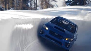 Subaru WRX STI bobsled run cornering