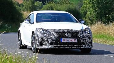 Lexus RC facelift spy - front quarter