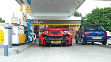 McLaren P1 GTR - getting petrol