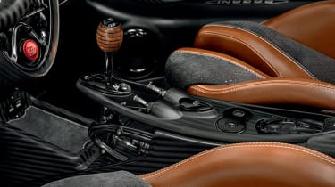 Pagani Huayra BC Roadster gear stick
