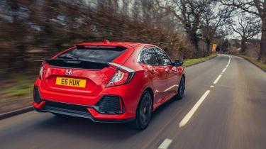 Honda Civic review - rear tracking