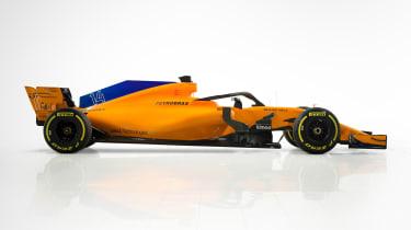 McLaren 2018 F1 car - side