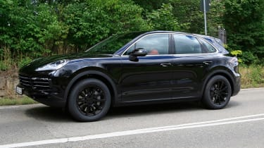 Porsche Cayenne spy shot profile 2
