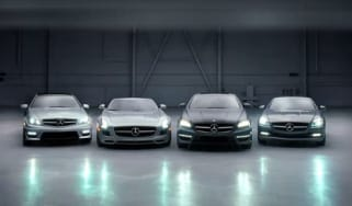 Mercedes-Benz SLS roadster and C-Class coupe