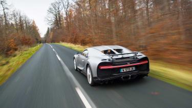 eCoty Bugatti Chiron - rear tracking
