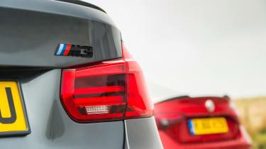 BMW M3 Competition Package & Alfa Romeo Giulia Quadrifoglio – rear