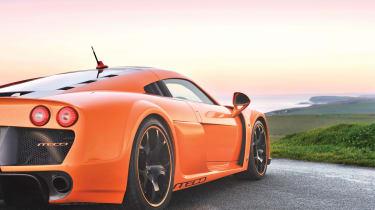 Noble M600 orange rear 3/4