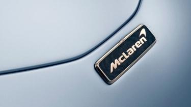 McLaren Speedtail – white gold badge