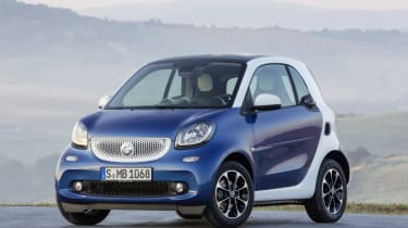 New Smart Fortwo blue front
