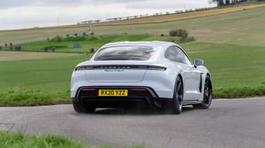 Porsche Taycan 2021 review - Turbo S cornering