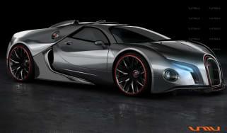 Bugatti Veyron supercar concept