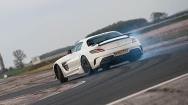 Mercedes SLS AMG Black Series on track