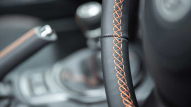 Toyota GT86 Orange Edition stitching