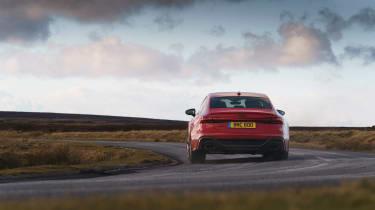 Audi RS7 red - cornering