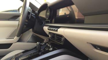 Porsche 911 on location - dash