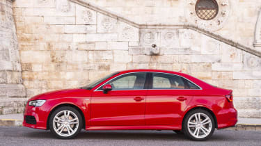 2013 Audi A3 Saloon 1.8 TFSI red side profile