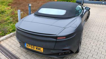 Aston Martin DBS Volante spy - OCT18 tail