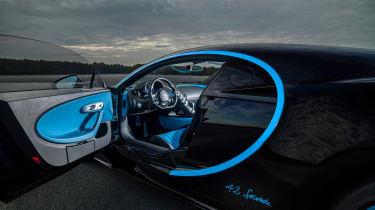 Bugatti Chiron '42' record breaker - door
