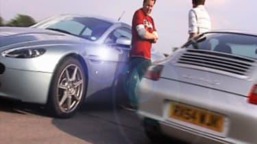 Porsche and Aston Martin