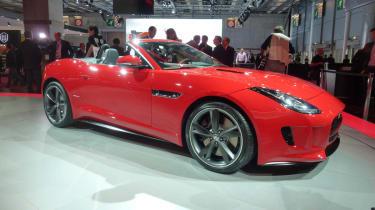 Jaguar F-type red Paris motor show