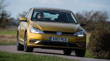 Volkswagen Golf front cornering