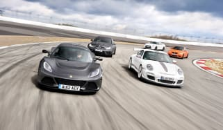 Lotus Exige S vs C63 Black, M3 GTS, 911 GT3 RS 4.0 and Nissan GT-R Track Pack